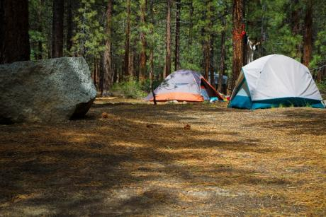 tent camping at mammoth mountain pumice flat campground