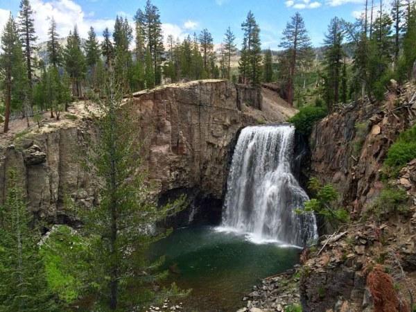 Rainbow Falls at Mammoth Mountain Devils postpile
