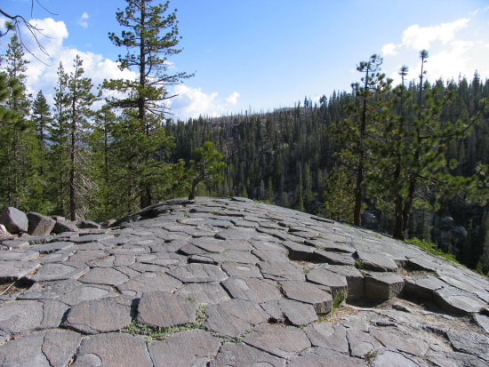 Devils Postpile view from the top mammoth mountain